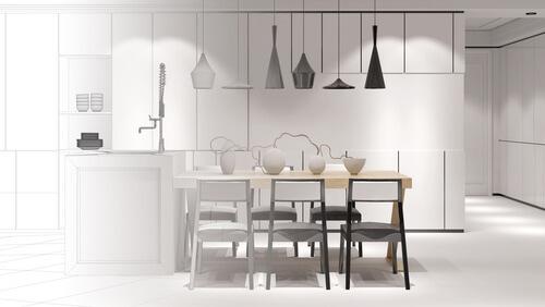 Open Space cucine a soggiorno