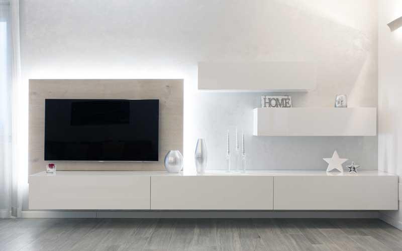 Mobile TV moderno bianco